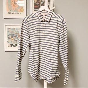 H&M L.O.G.G. Stripe Button-Down Shirt XL